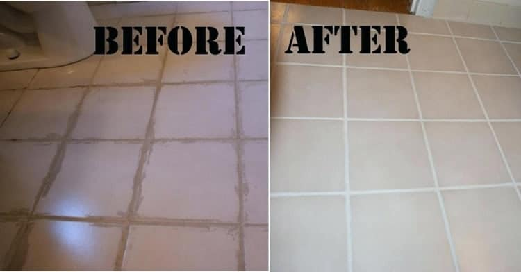 how to clean dirty grout in the bathroom