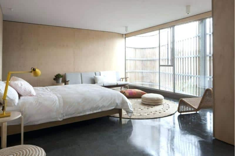 Concrete Flooring for Bedroom