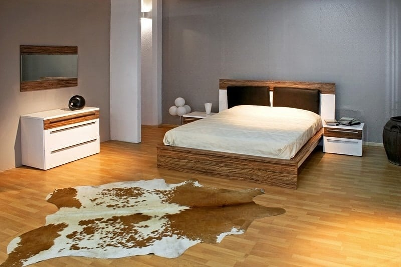 Cowhide Flooring for Bedrooms