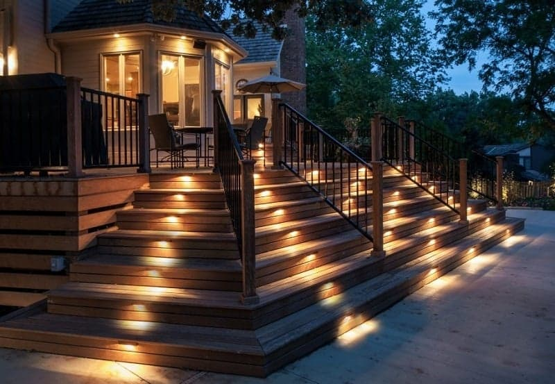 Decking and Pathway Staircase Lights