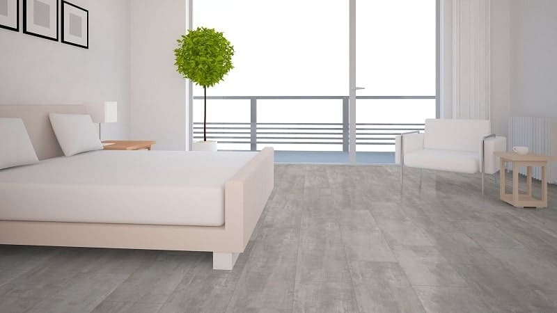 Gray Laminate flooring for Bedroom