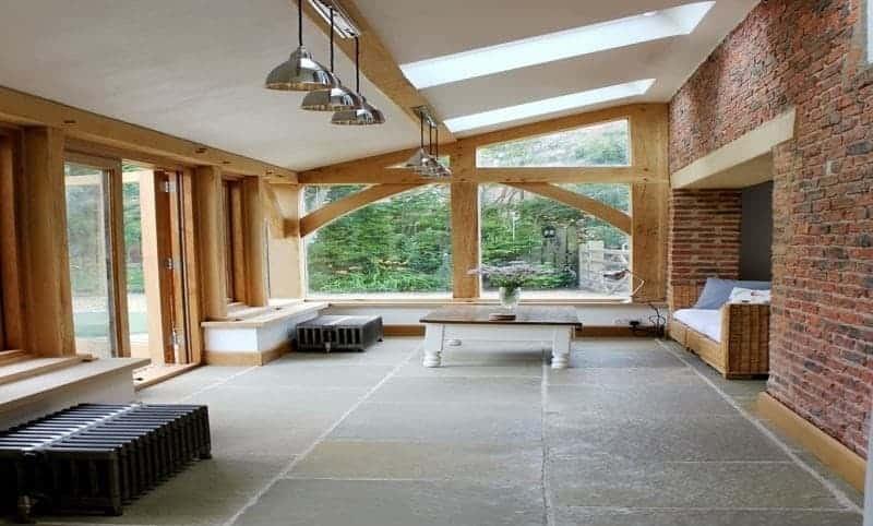Slate flooring idea