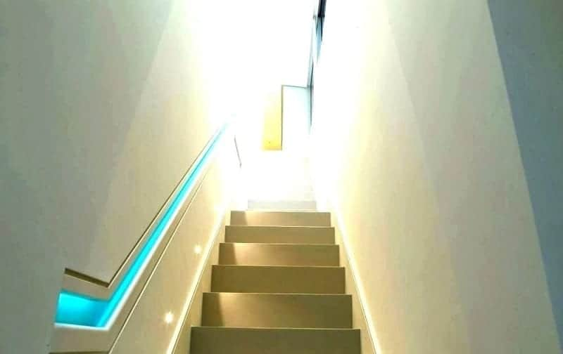 Stripped Staircase Lighting Ideas