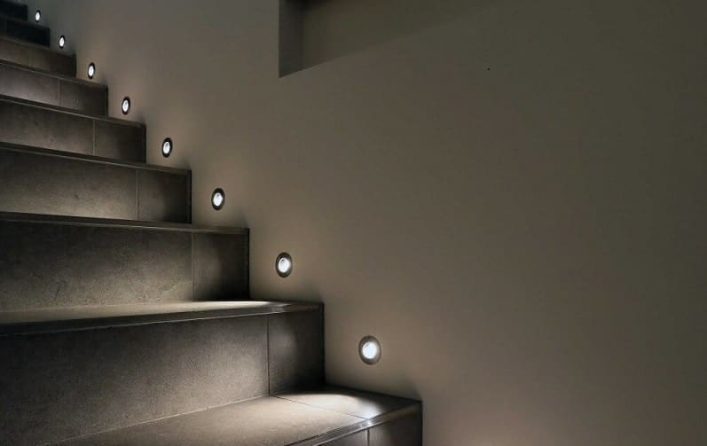 Subtle and Chic Staircase Lights