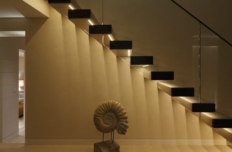 Underside Recessed Staircase Light