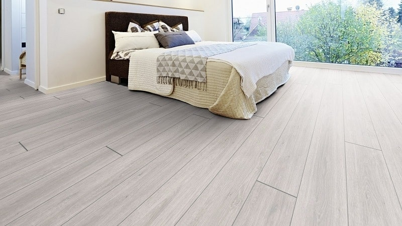 White Laminate Flooring for Bedroom