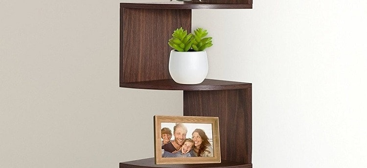 Greenco 5 Tier Wall Corner Shelves