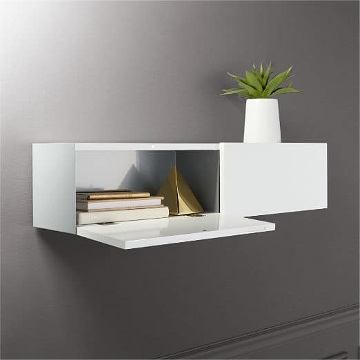 Hide N Seek Large White Storage Shelf
