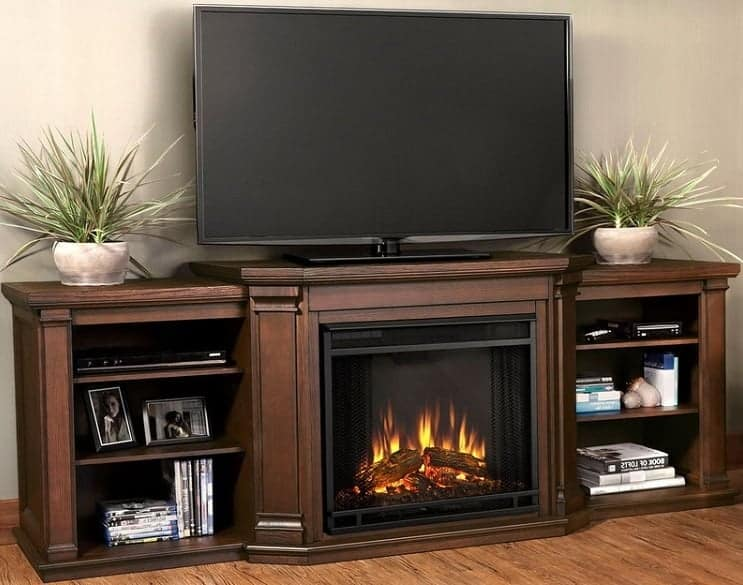 fake fireplace tv stand at costco