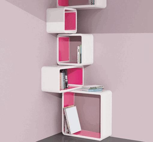 Modular Corner Cube Shelf – M