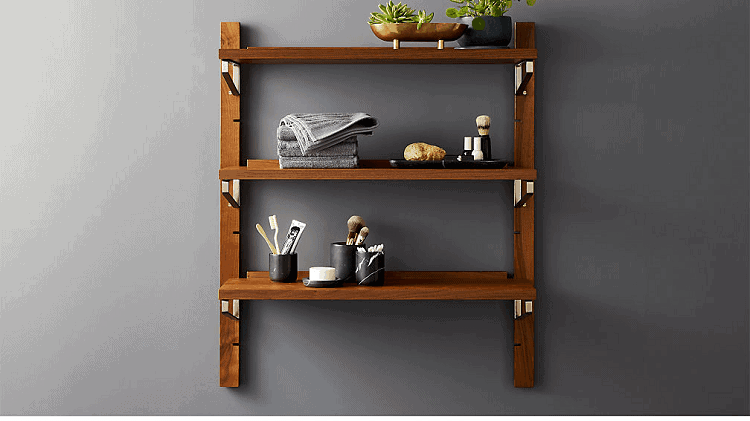 Walnut Modular Single Shelf 39.5