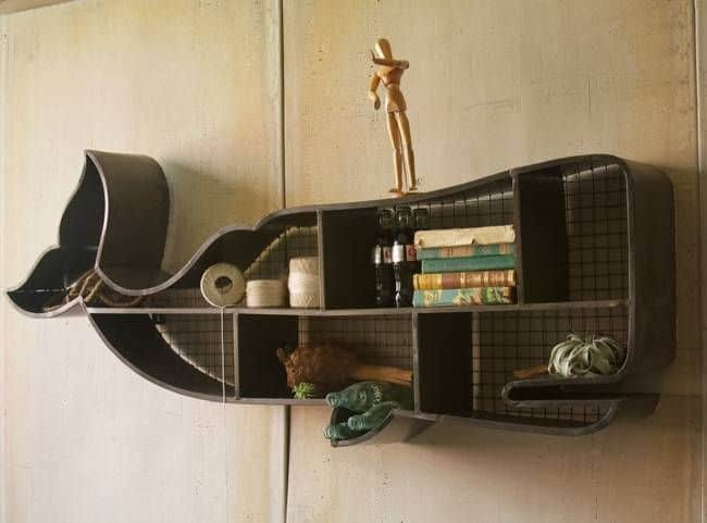 Whale Shaped Wall Shelving