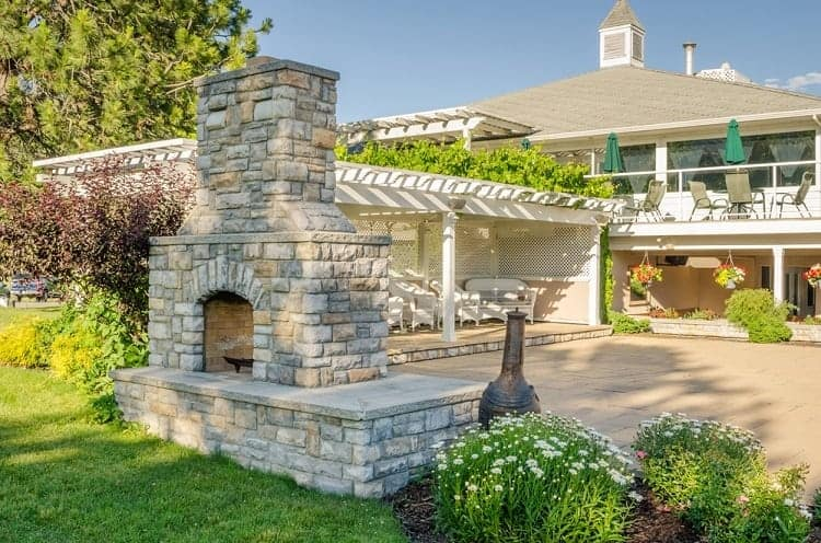 chimney cap for outdoor fireplaces