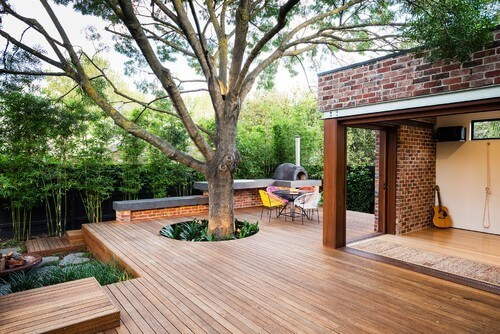 Build a Deck around Trees