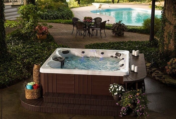 Cozy swim Spa and Jacuzzi Landscaping idea