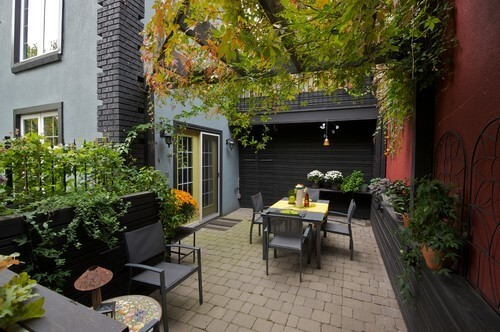 Paver Patios with Greenery