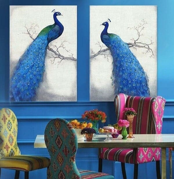 Peacock Artwork on Canvas