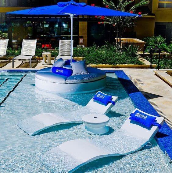 Swimming Loungers underwater Custom Pool